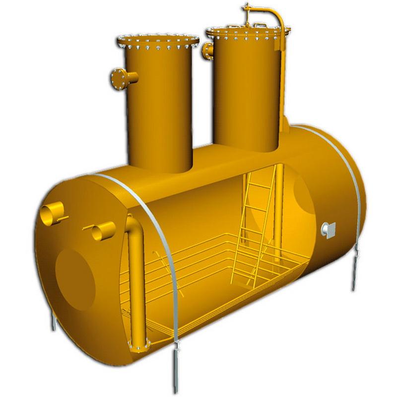 Емкость подземная ЕП-16-2000-1750-1 с насосом НВ-М-н-Е-50/50-3,5-В-УХЛ1 (опр. лист 044/14-ИЛО7-ОЛ15)